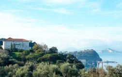 Paysage de Posillipo, Naples Images libres de droits