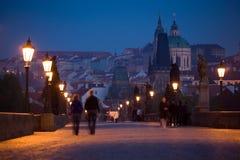 Paysage de Prague de début de la matinée Photo libre de droits