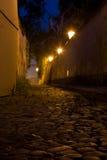 Paysage de Prague de nuit image libre de droits