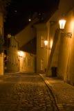 Paysage de Prague de nuit images stock