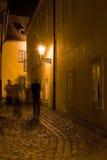 Paysage de Prague de nuit Photographie stock