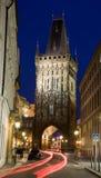 Paysage de Prague de nuit images libres de droits