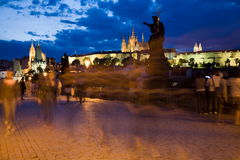 Paysage de Prague de soirée photo libre de droits