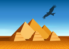 Paysage de pyramide Image stock