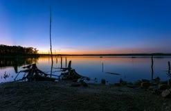 Paysage de réservoir après coucher du soleil Photos libres de droits