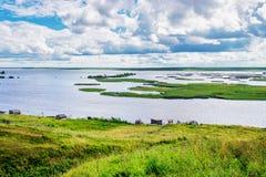 Paysage de réservoir de Kama Photo stock
