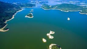 Paysage de réservoir de Putian Dongzhen Images stock