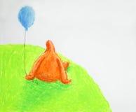 Paysage de regard de siège de pastels d'huile illustration libre de droits