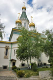 Paysage de ressort de l'église russe Photo libre de droits
