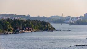Paysage de ressort de la Suède, secteur de Stokholm images libres de droits