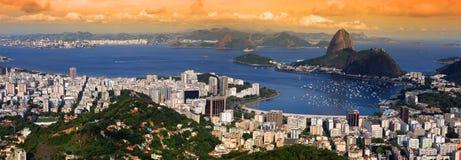 Paysage de Rio Photo libre de droits