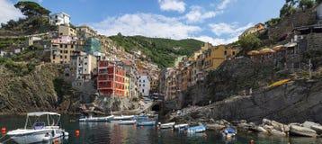 Paysage de Riomaggiore Photos libres de droits