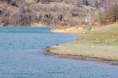 Paysage de rivage de lac Photos libres de droits