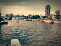 Paysage de rivière Images libres de droits