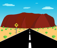 Paysage de roche du ` s d'Uluru Ayer Image stock