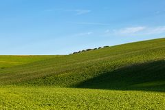 Paysage de roulement du Sussex photos libres de droits