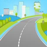 Paysage de route Photo libre de droits