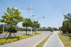 Paysage de route de Hongze Images libres de droits