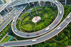 Paysage de route de pont de viaduc de ville Image stock