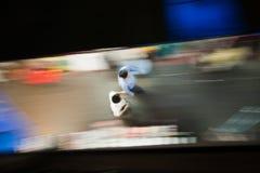 Paysage de rue à Bangkok par nuit Images libres de droits