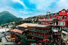 Paysage de salon de thé de Jiufen à Taïwan photo libre de droits