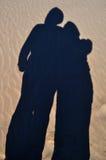 Paysage de Sandy, amour, symbolique Photographie stock