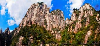 Paysage de Sanqingshan de bâti photo libre de droits