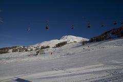Paysage de Sestrières en hiver Photo libre de droits