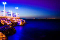 Paysage de soirée d'océan d'été Photos libres de droits