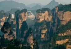 Paysage de stationnement de forêt de Zhangjiajie Images libres de droits