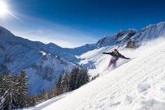 Paysage de surf des neiges Photo libre de droits