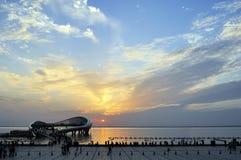 Paysage de Suzhou - plate-forme de lac de lecture Photo libre de droits