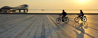 Paysage de Suzhou - plate-forme de lac de lecture Images stock
