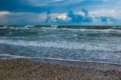 Paysage de tempête de mer Photos stock