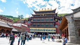 Paysage de temple de goudron de la Chine le Qinghai Xining photos libres de droits