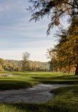Paysage de terrain de golf Photographie stock libre de droits