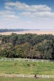 Paysage de terres cultivables Photo stock