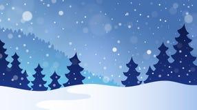 Paysage 3 de thème d'hiver Images libres de droits