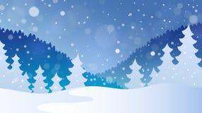 Paysage 4 de thème d'hiver Images libres de droits