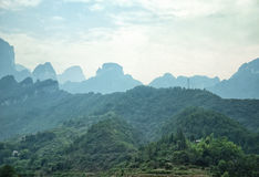 Paysage de Tianmenshan Photos stock