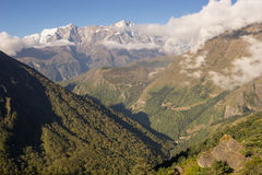 Paysage de trekking de camp de base d'Everest Photographie stock libre de droits