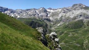 Paysage de Troumouse dans le Pyrénées Images libres de droits