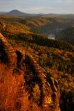 Paysage de vallée Photos libres de droits