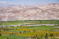 Paysage de vallée, Camaná, Pérou Photo libre de droits