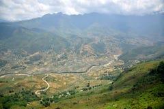 Paysage de vallée de sapa Photographie stock libre de droits