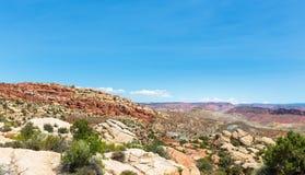 Paysage de vallée en parc national de voûtes Photographie stock libre de droits