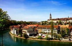 Paysage de vieille ville à Berne Photographie stock