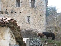 Paysage de village Images libres de droits