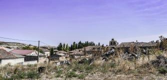 Paysage de village, Espagne Photos stock