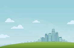 Paysage de ville illustration de vecteur